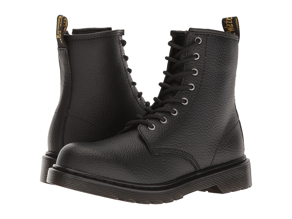 Dr. Martens Kid's Collection - Delaney PBL Lace Boot (Big Kid) (Black Pebble Lamper) Kids Shoes