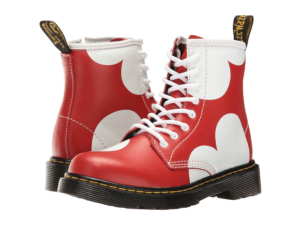 Dr. Martens Kid's Collection - Delaney HRT Lace Boot (Little Kid/Big Kid) (Red T Lamper) Girls Shoes
