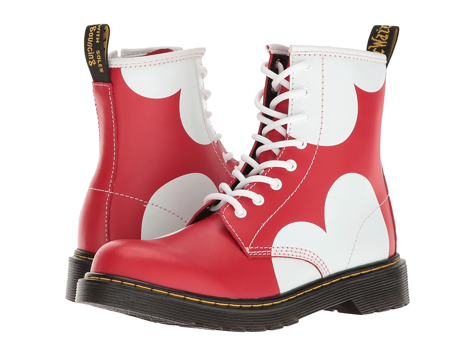 Dr. Martens Kid's Collection - Delaney HRT Lace Boot (Big Kid) (Red T Lamper) Girls Shoes