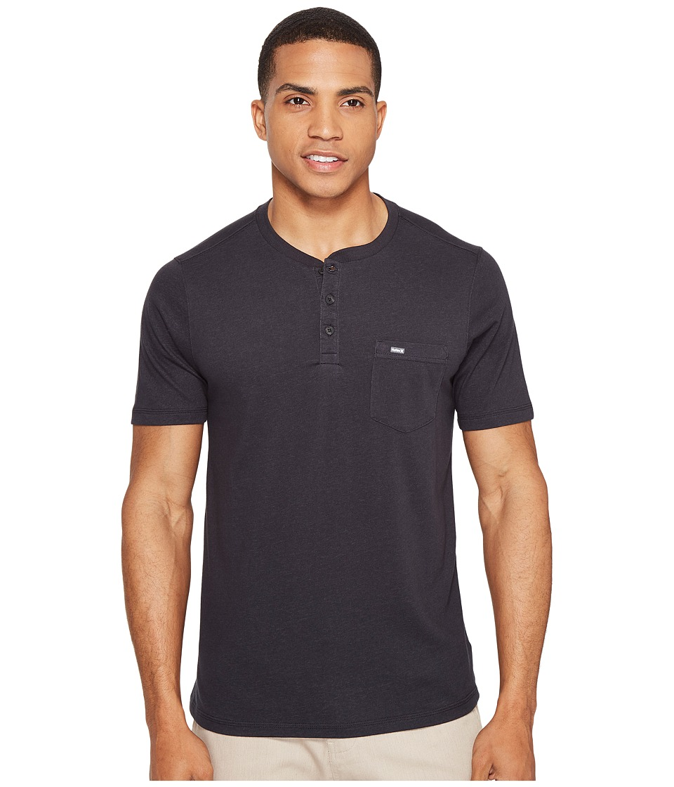 Hurley - Lagos Dri-Fit Lagos Henley (Black) Men's Clothing