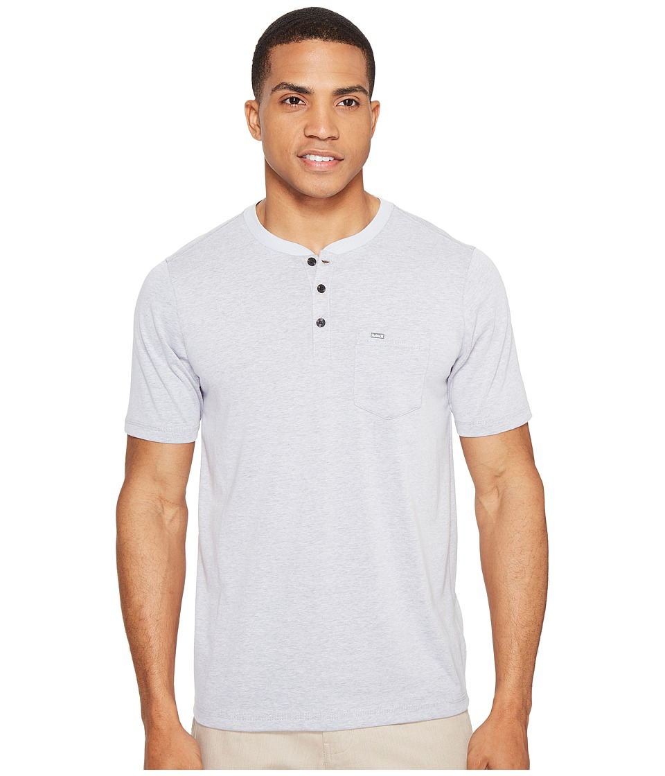 Hurley - Lagos Dri-Fit Lagos Henley (Wolf Grey) Men's Clothing