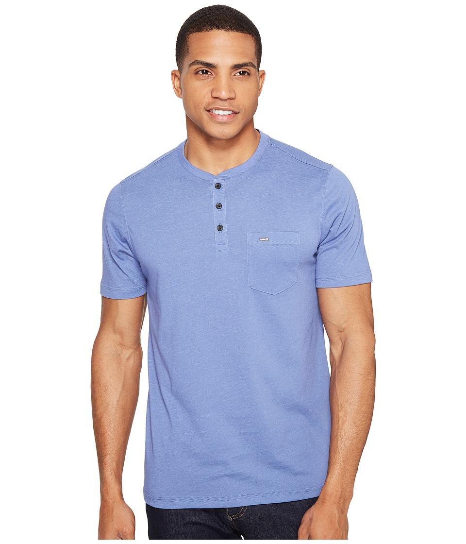 Hurley - Lagos Dri-Fit Lagos Henley (Blue Moon) Men's Clothing