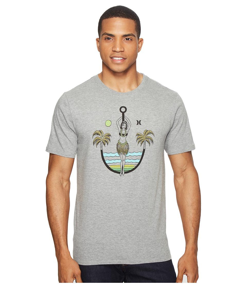 Hurley - Anchors Away Tee (Dark Grey Heather) Men's T Shirt