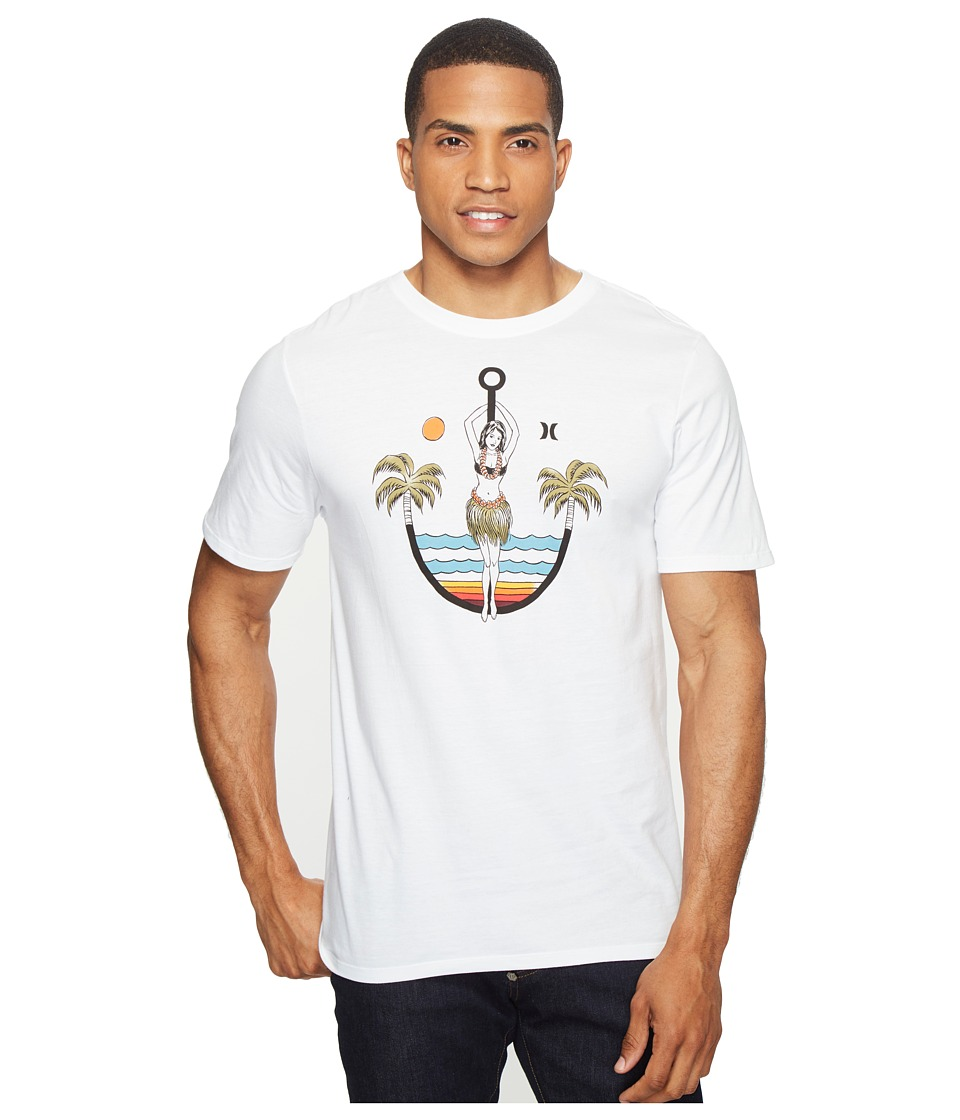 Hurley - Anchors Away Tee (White) Men's T Shirt