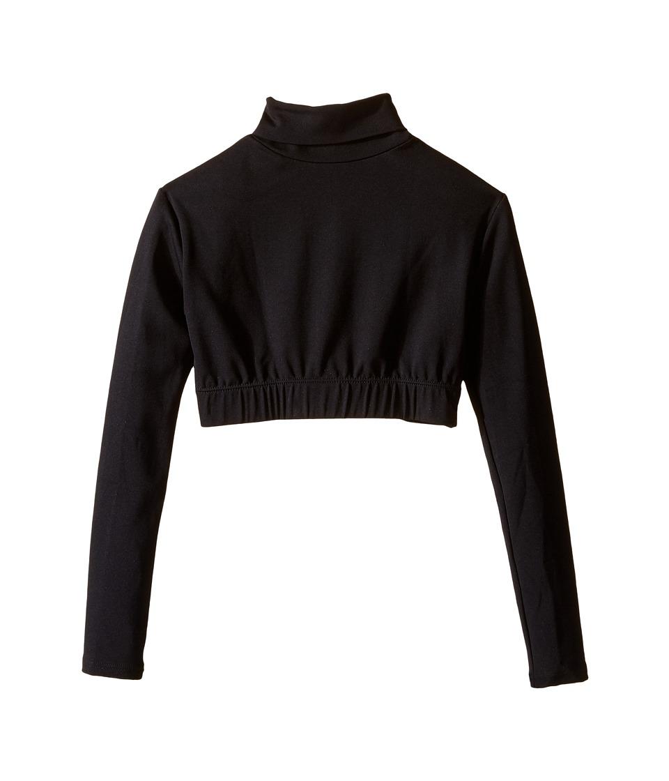 Capezio Kids - Team Basic Turtleneck Long Sleeve Top (Little Kids/Big Kids) (Black) Girl's Clothing