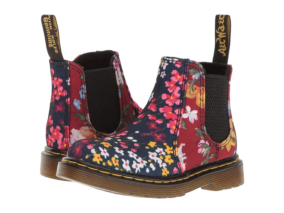 Dr. Martens Kid's Collection - Shenzi FC Chelsea Boot (Toddler) (Indigo/Dark Red T Canvas) Girls Shoes
