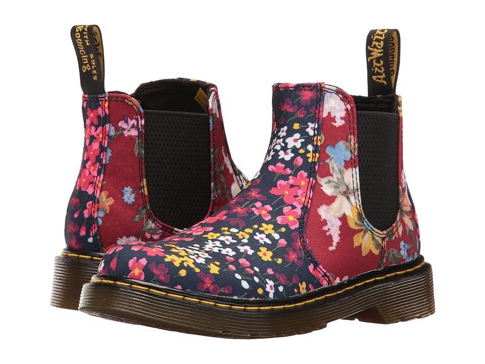 Dr. Martens Kid's Collection - Banzai FC Chelsea Boot (Little Kid/Big Kid) (Indigo/Dark Red T Canvas) Girls Shoes