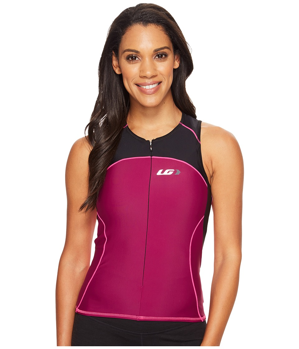 Louis Garneau - Women Comp Sleeveless (Black/Magenta Purple/Pink Glow) Women's Sleeveless