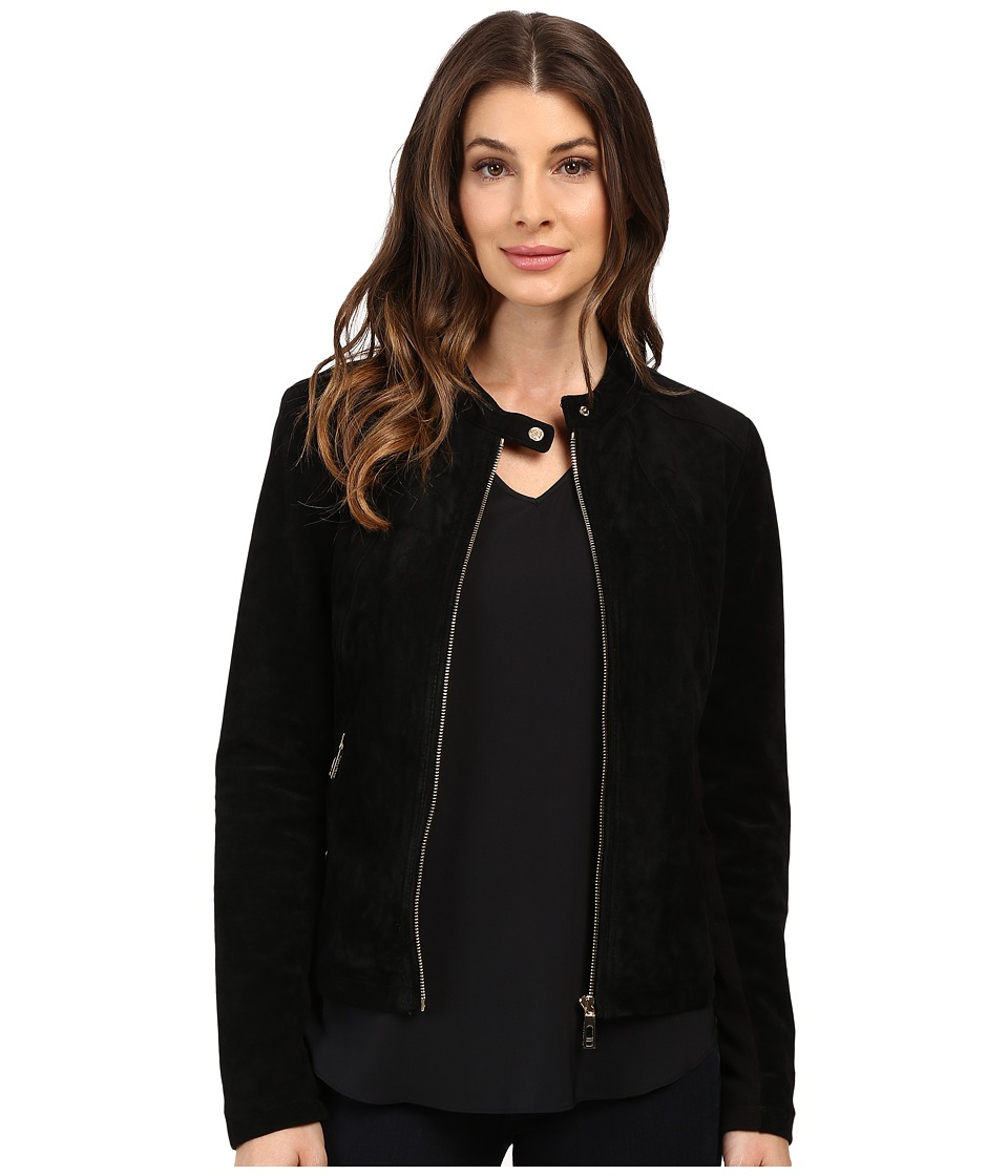 Ivanka Trump - Suede Jacket (Black) Women's Coat
