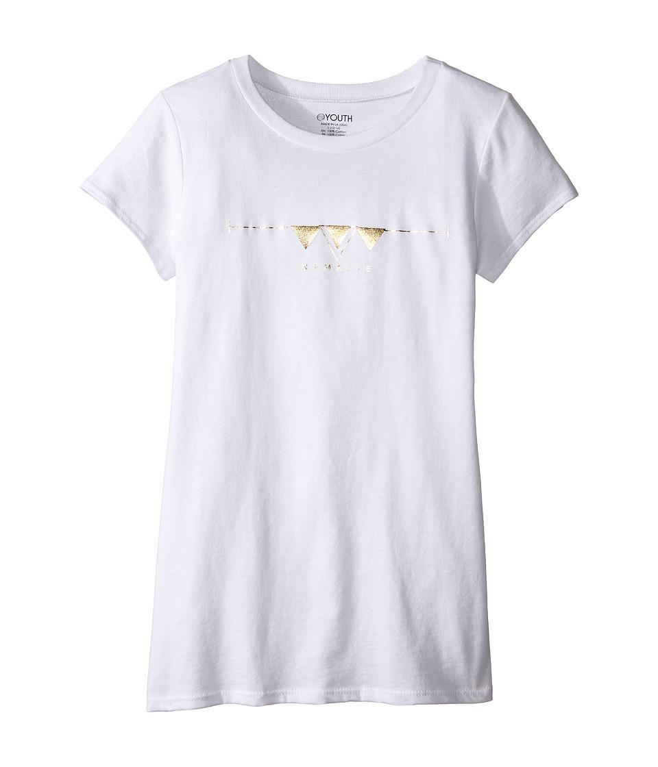 Onzie Kids - Cap Sleeve Top (Little Kids/Big Kids) (White Namaste) Girl's T Shirt