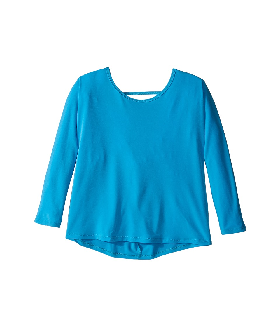 Onzie Kids - Scoop Back Top (Big Kids) (Sky) Girl's Clothing