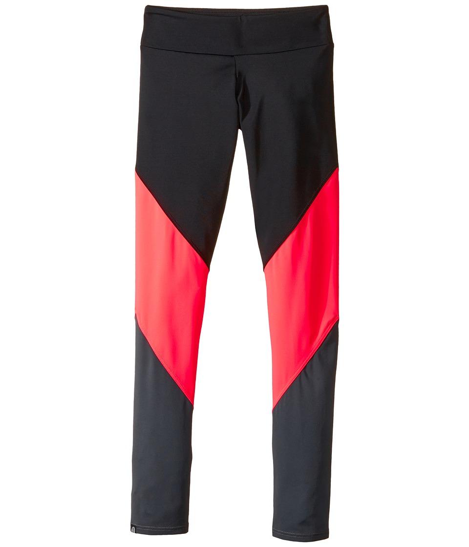 Onzie Kids Track Leggings (Little Kids/Big Kids) (Black/Wonderland/Titanium) Girl's Casual Pants