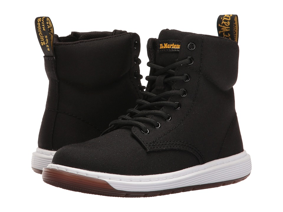 Dr. Martens Kid's Collection - Malky Lace Boot (Little Kid/Big Kid) (Black T Canvas) Kids Shoes