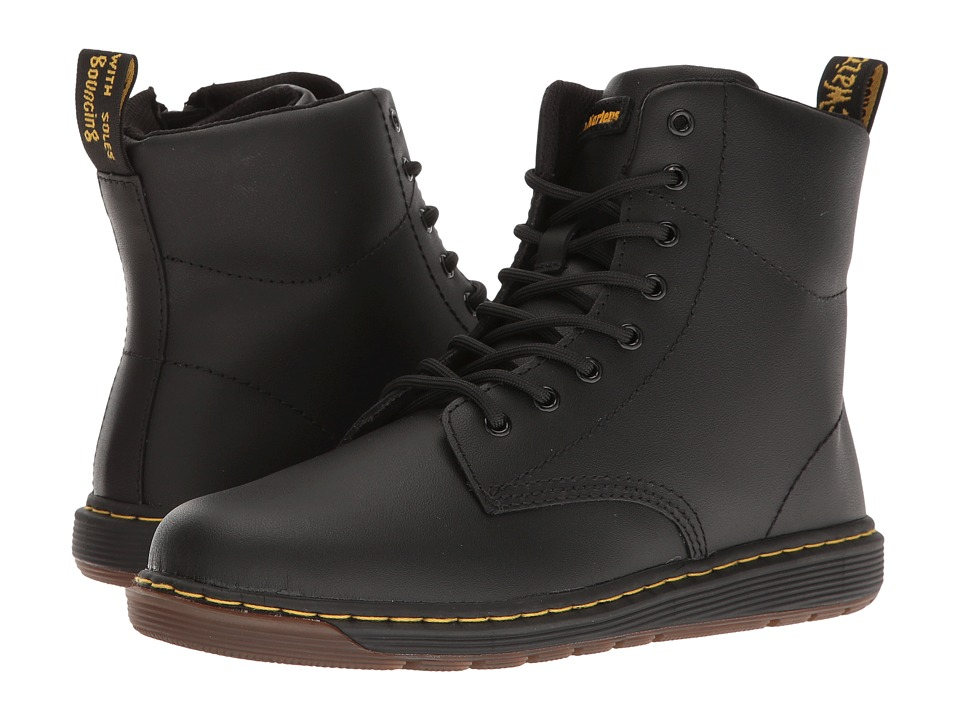 Dr. Martens Kid's Collection - Malky Lace Boot (Big Kid) (Black Backhand) Kids Shoes