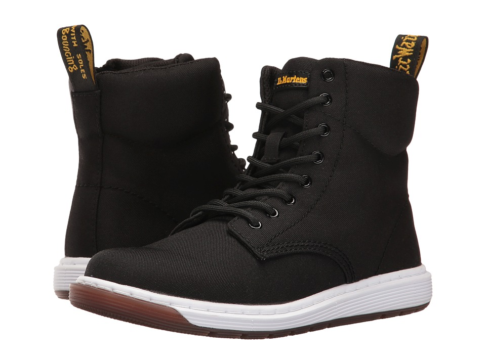 Dr. Martens Kid's Collection - Malky Lace Boot (Big Kid) (Black T Canvas) Kids Shoes
