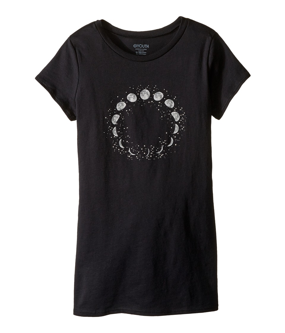 Onzie Kids - Cap Sleeve Top (Little Kids/Big Kids) (Black Moons) Girl's T Shirt