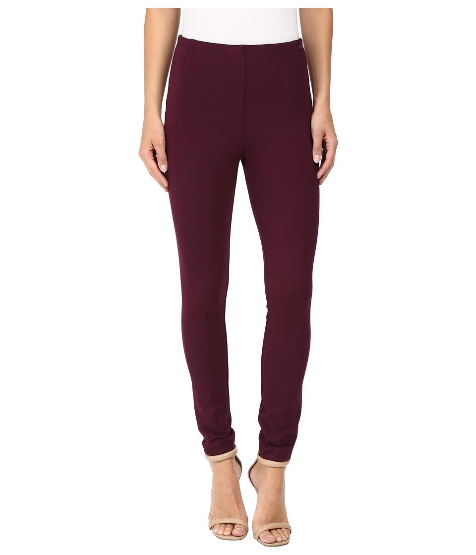 Ivanka Trump - Ponte Compression Pants (Wine) Women's Casual Pants