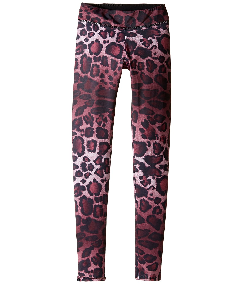 Onzie Kids - Long Leggings (Little Kids/Big Kids) (Purple Cheetah) Girl's Casual Pants