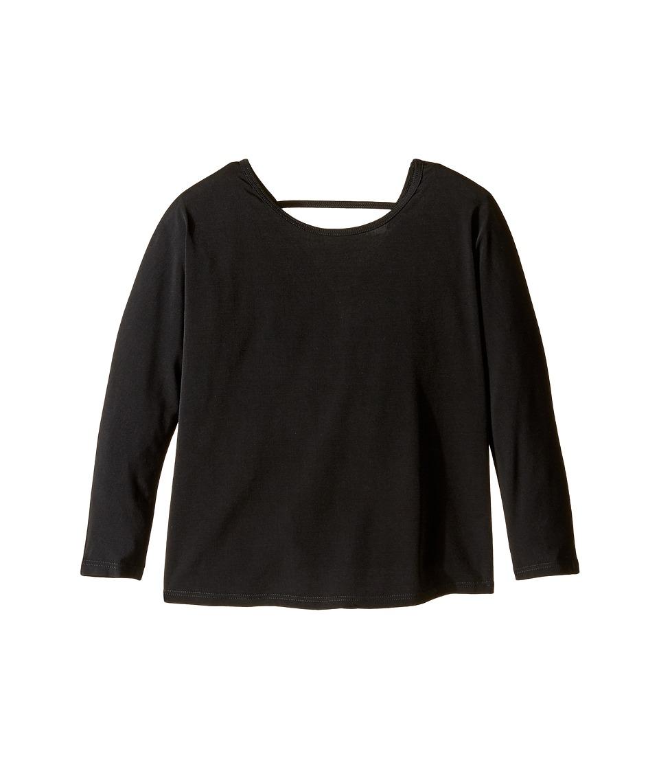Onzie Kids - Scoop Back Top (Big Kids) (Black) Girl's Clothing