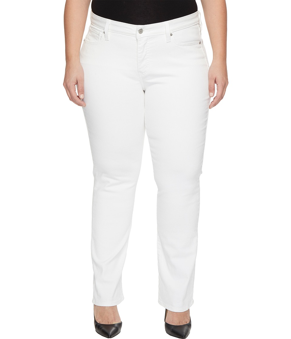 Levi's(r) Plus - 414 Relaxed Straight (Soft Clean White) Women's Jeans