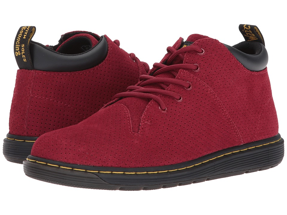 Dr. Martens Kid's Collection - Parker 5-Eye Lace-Up Monkey Bootie (Big Kid) (Dark Red Hi Suede Water Perforated) Kids Shoes