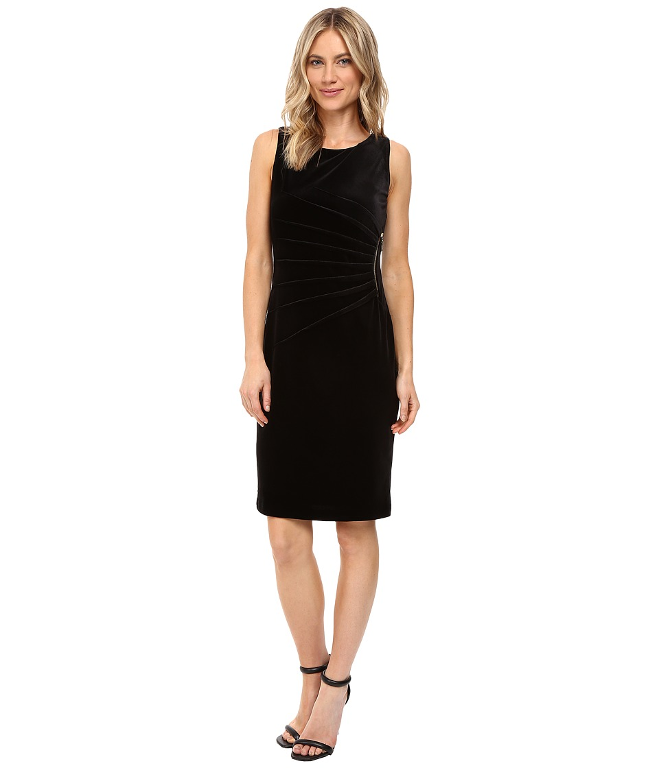 Ivanka Trump - Velvet Starburst Dress (Black) Women's Dress