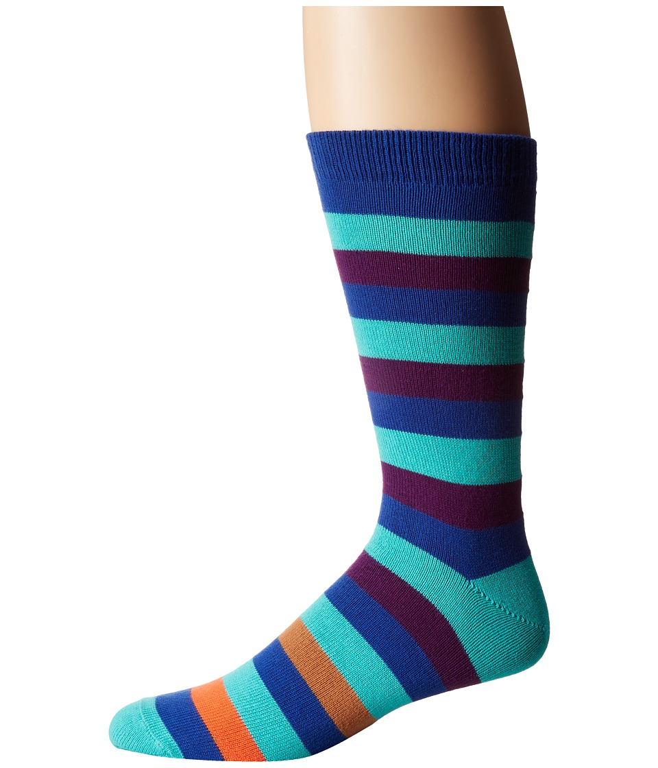 Paul Smith - Mel Stripe Sock (Multi) Men's Crew Cut Socks Shoes