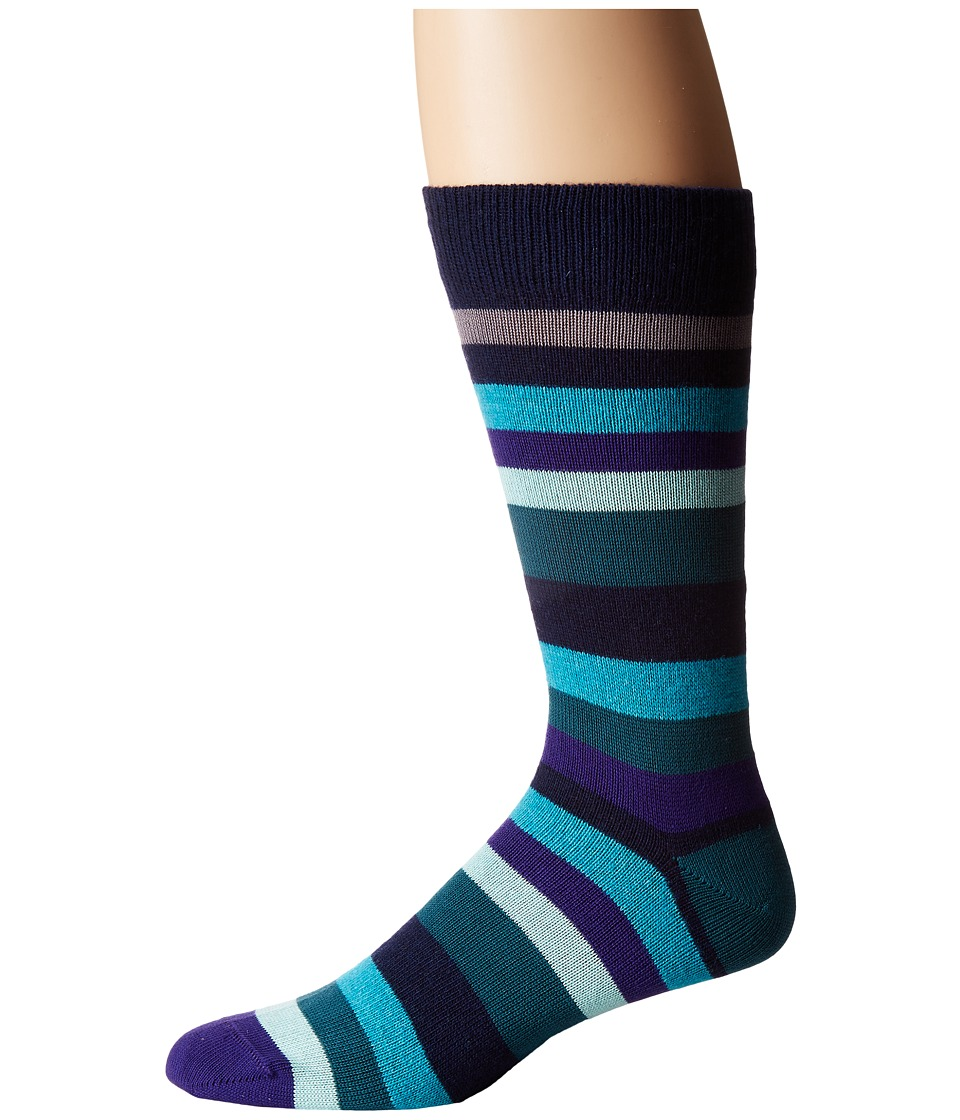 Paul Smith - Mali Stripe Sock (Multi) Men's Crew Cut Socks Shoes