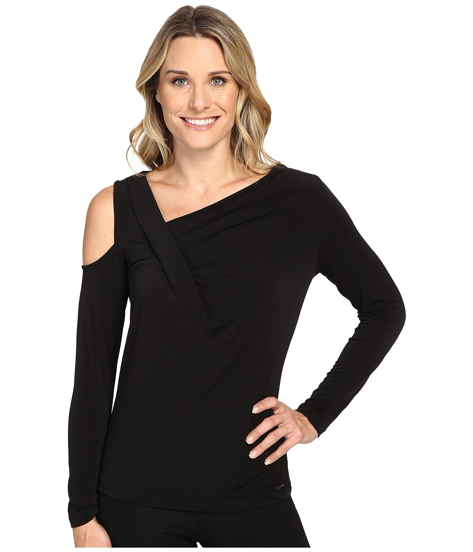 Ivanka Trump - Long Sleeve Matte Jersey with Cold Shoulder (Black) Women's Clothing