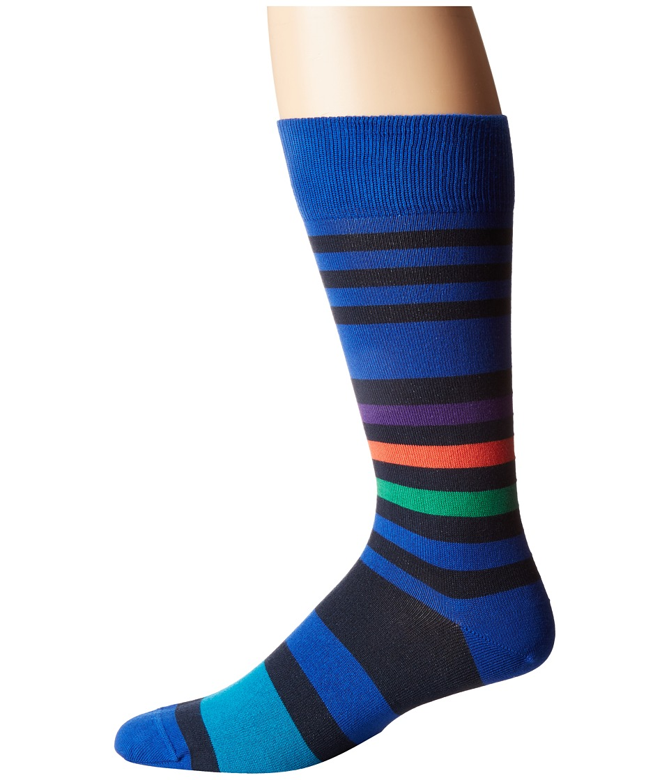 Paul Smith - Odd Block Stripe Sock (Multi 1) Men's Crew Cut Socks Shoes