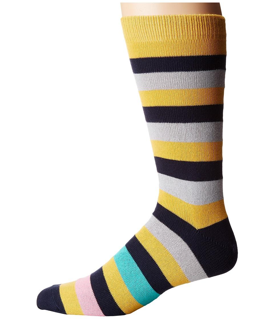 Paul Smith - Mel Stripe Sock (Multi 2) Men's Crew Cut Socks Shoes