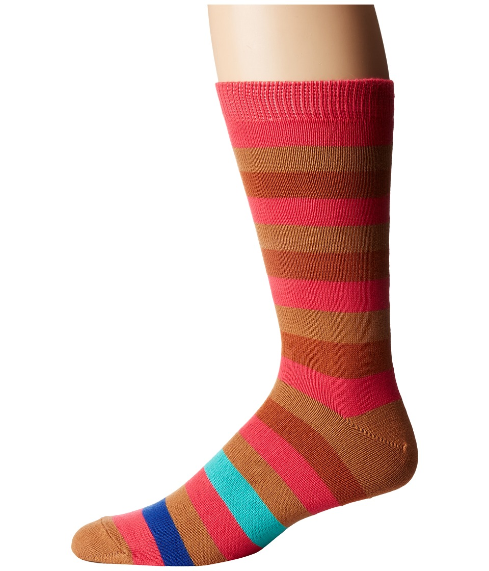 Paul Smith - Mel Stripe Sock (Multi 1) Men's Crew Cut Socks Shoes