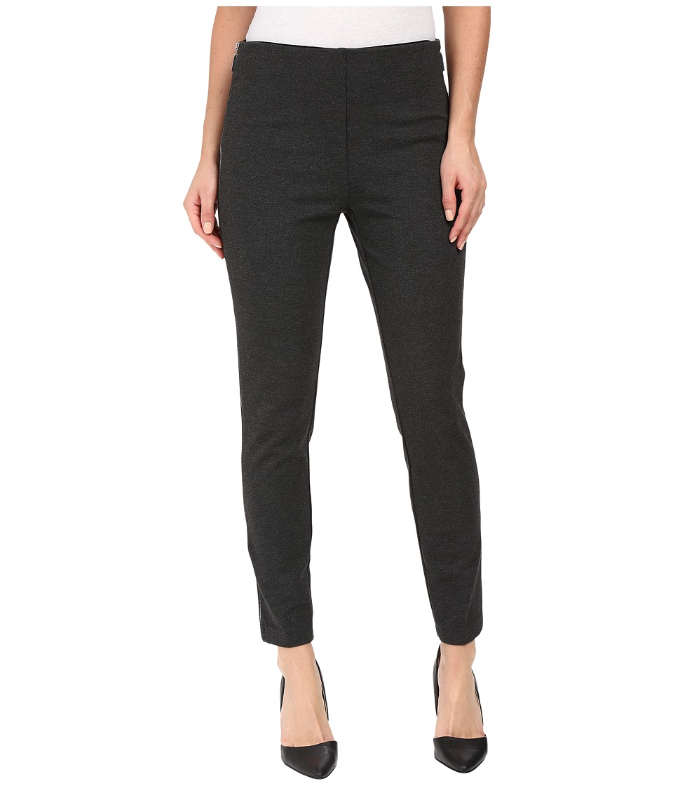 Ivanka Trump - Ponte Pants with Side Zippers (Heather Charcoal) Women's Casual Pants