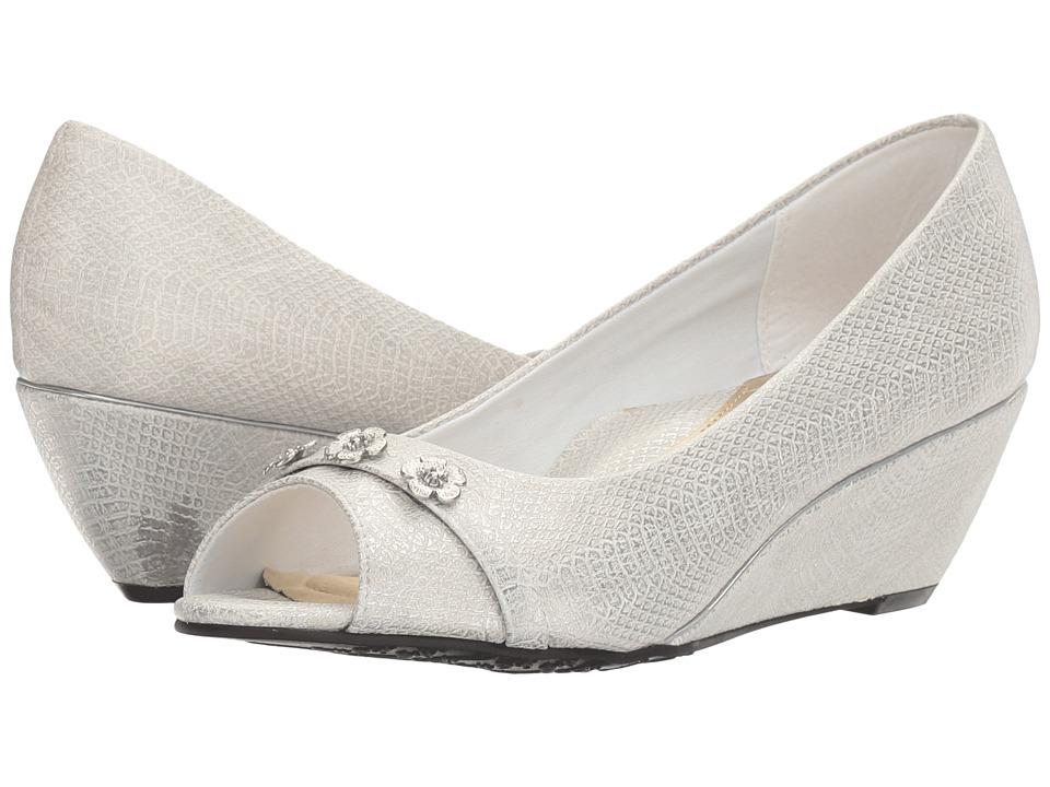 Soft Style - Adley (White Snake) Women's Toe Open Shoes