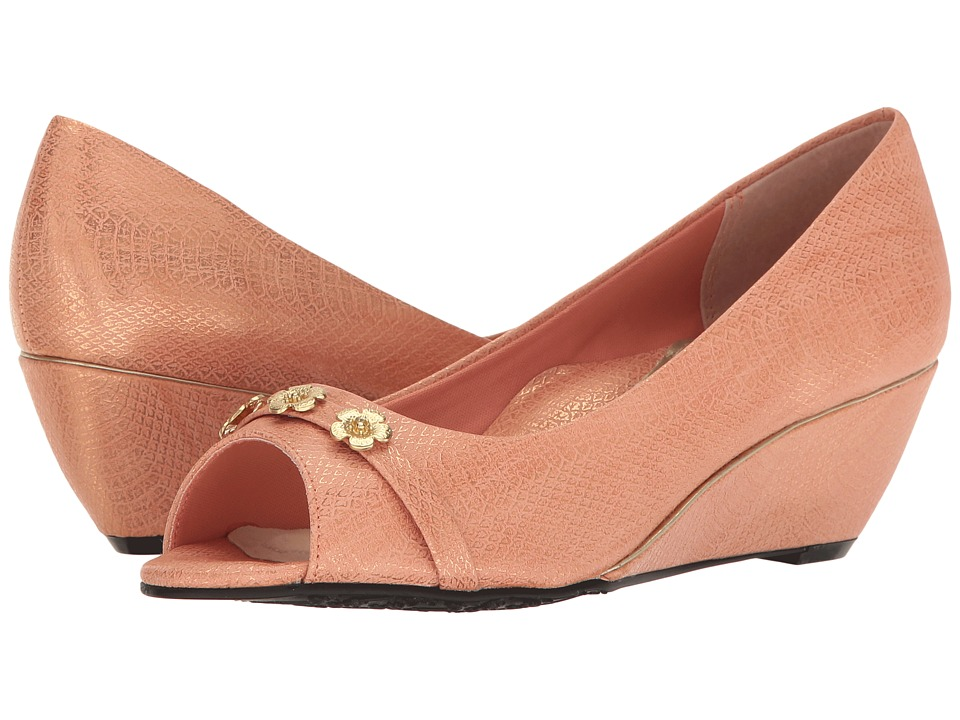 Soft Style - Adley (Caramel Cream Snake) Women's Toe Open Shoes