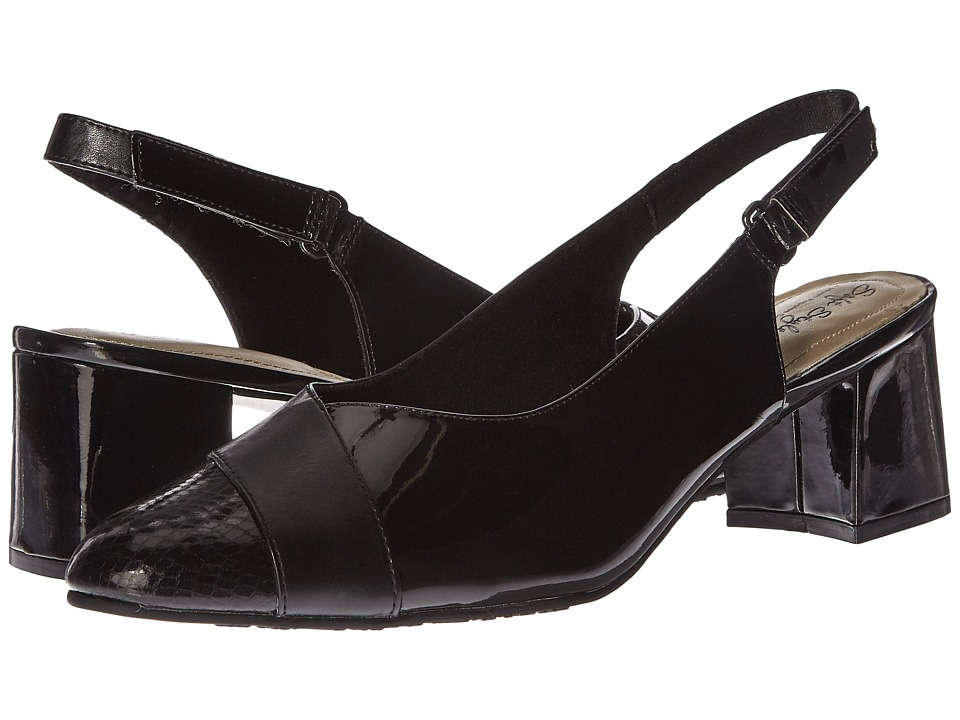 Soft Style - Dalek (Black) Women's Sling Back Shoes