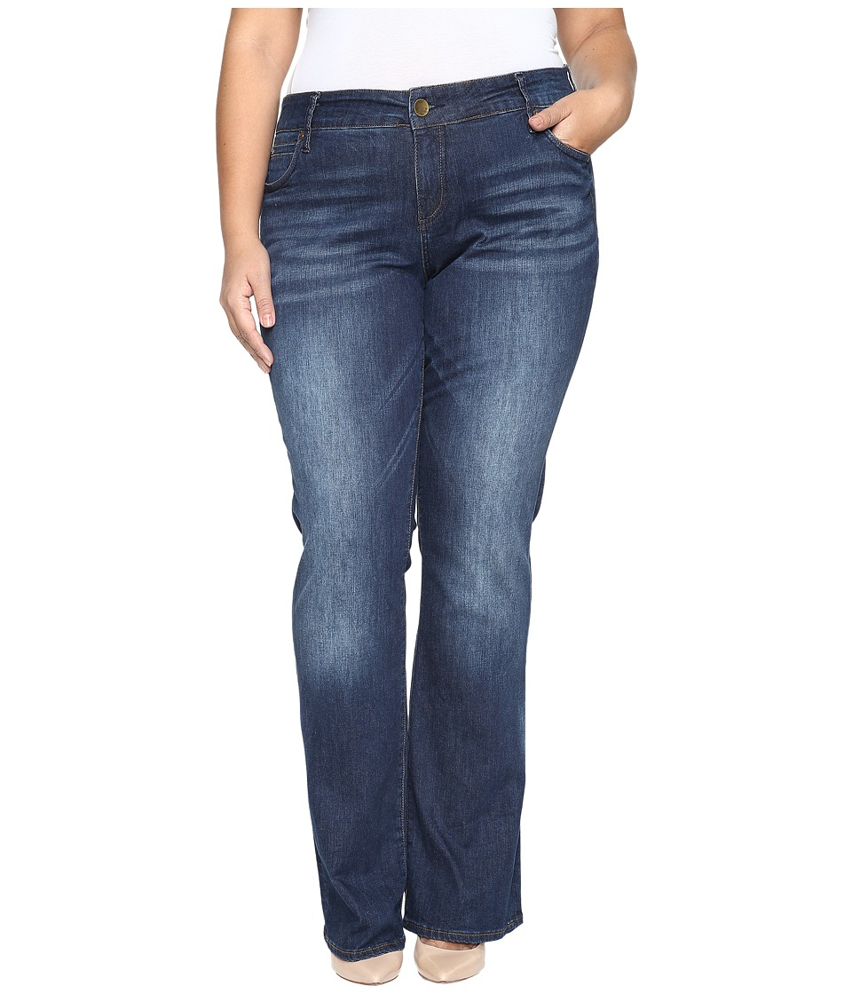 KUT from the Kloth - Plus Size Natalie High-Rise Bootcut Jeans in Adaptive (Adaptive) Women's Jeans
