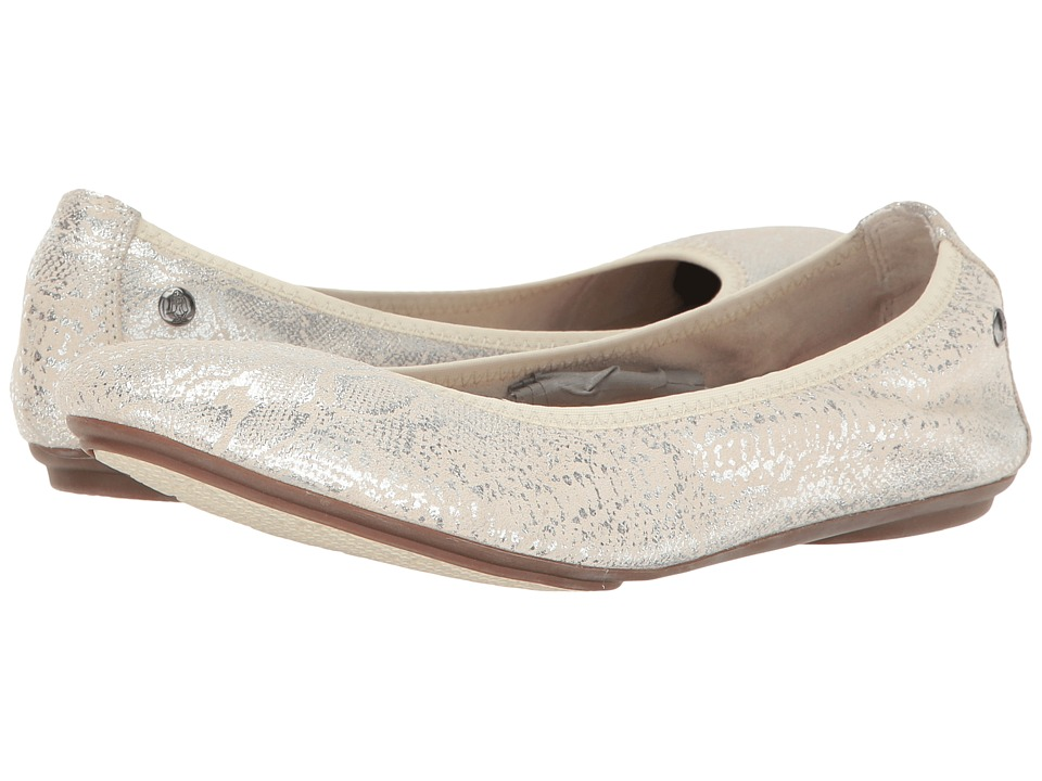 Hush Puppies Chaste Ballet (Birch Metallic Snake Suede) Women
