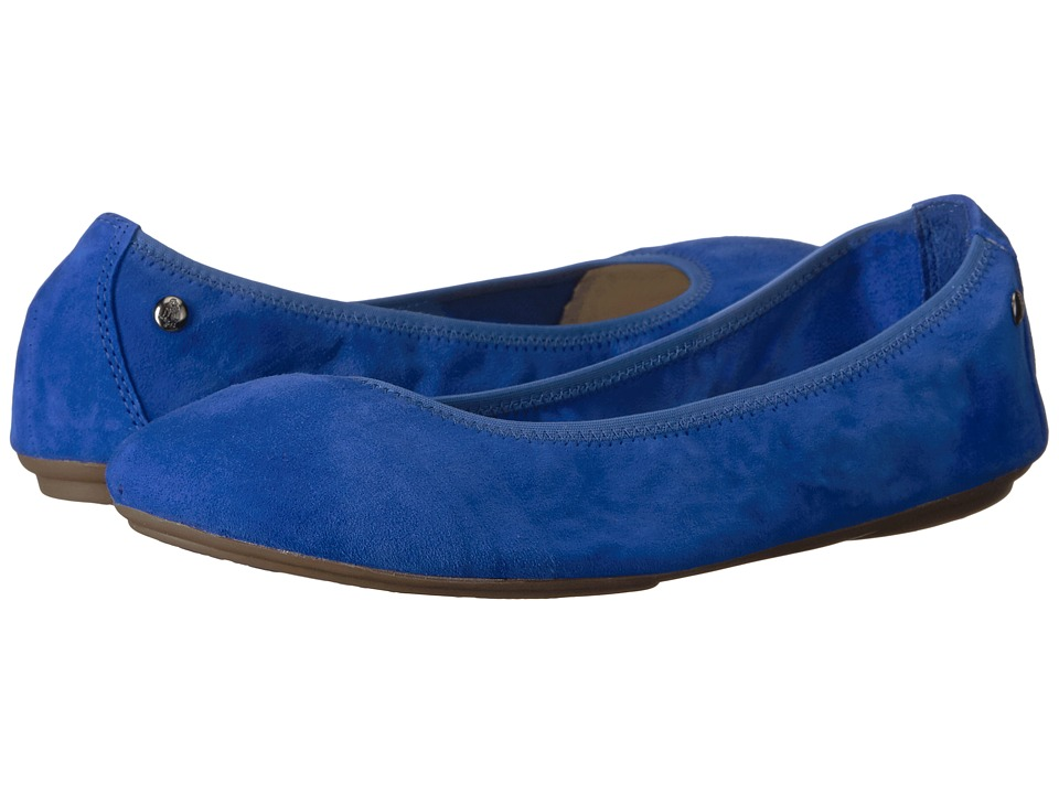 Hush Puppies Chaste Ballet (Azure Blue Suede) Women
