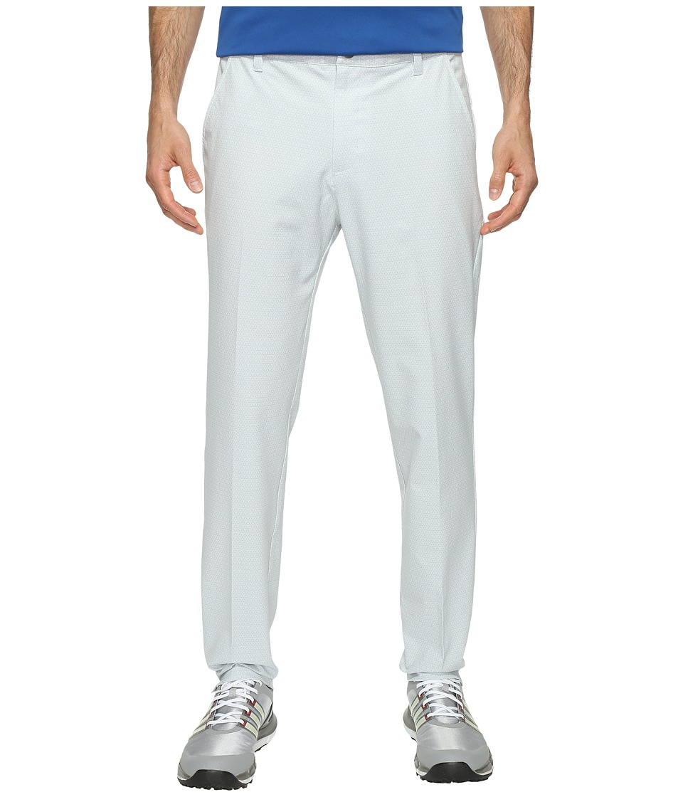 adidas Golf - Ultimate 365 Geo Print Tappered Fit Pants (Clear Grey) Men's Workout