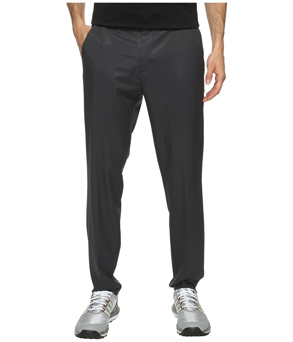 adidas Golf - Ultimate 365 Geo Print Tappered Fit Pants (Carbon) Men's Workout