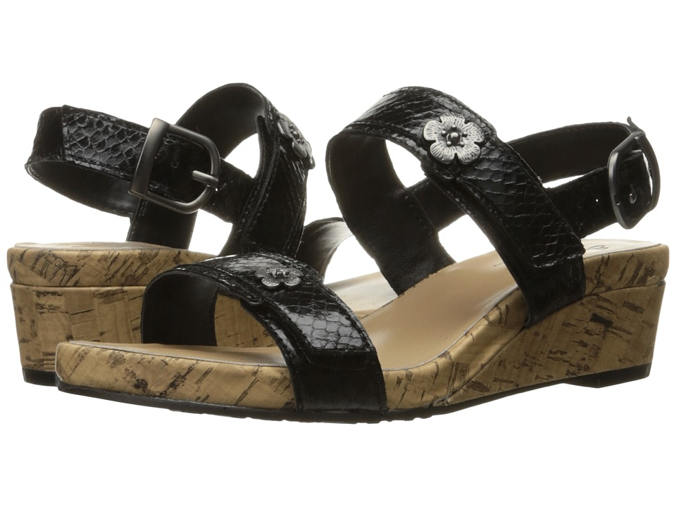 Soft Style - Oceane (Black Python) Women's Wedge Shoes