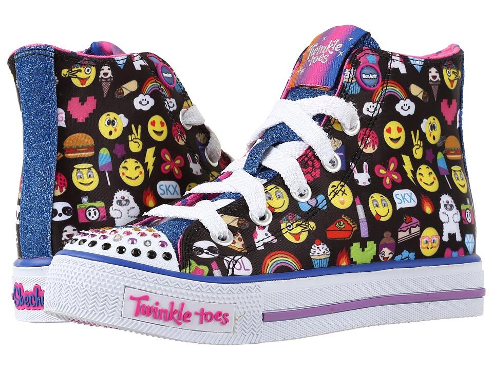 SKECHERS KIDS - Shuffles 10623L Lights (Little Kid/Big Kid) (Black Multi) Girl's Shoes