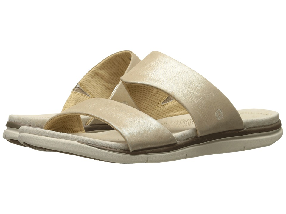 Hush Puppies - Reo Aida (Champagne Metallic Leather) Women's Sandals