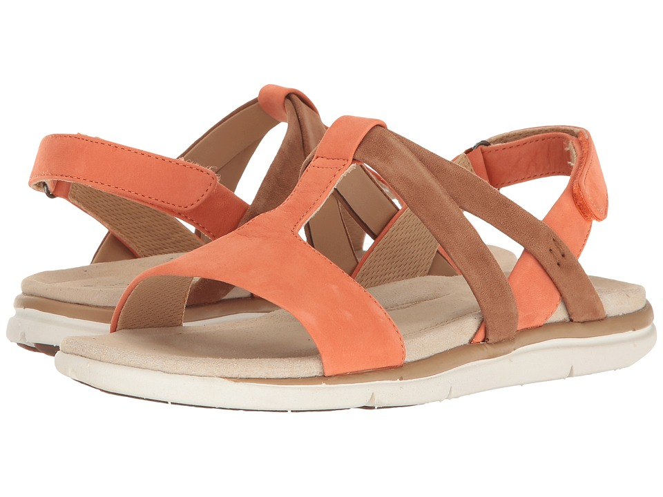 Hush Puppies - Talia Aida (Bright Coral Nubuck) Women's Sandals