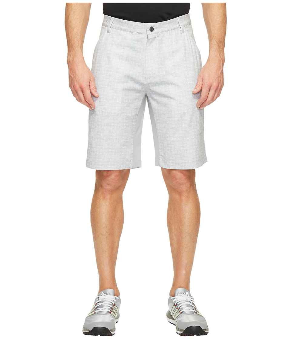 adidas Golf - Ultimate 365 Airflow Textured Grid Shorts (Mid Grey) Men's Shorts