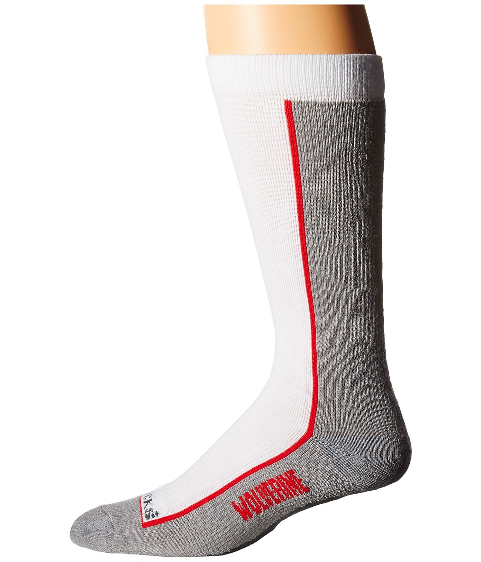Wolverine - 1-Pack Durashocks Sock (White) Men's Crew Cut Socks Shoes