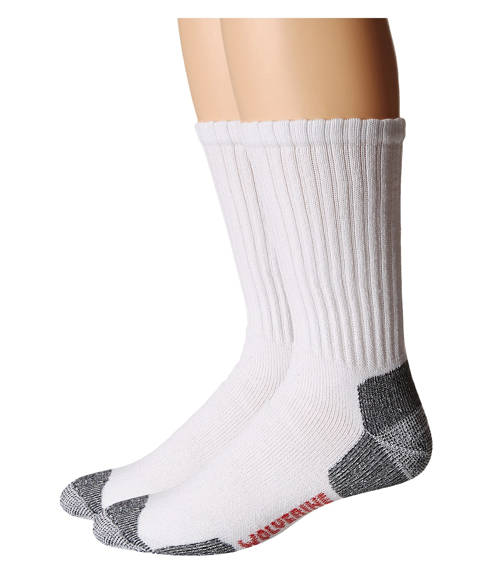Wolverine - Acrylic Sock (White) Men's Crew Cut Socks Shoes