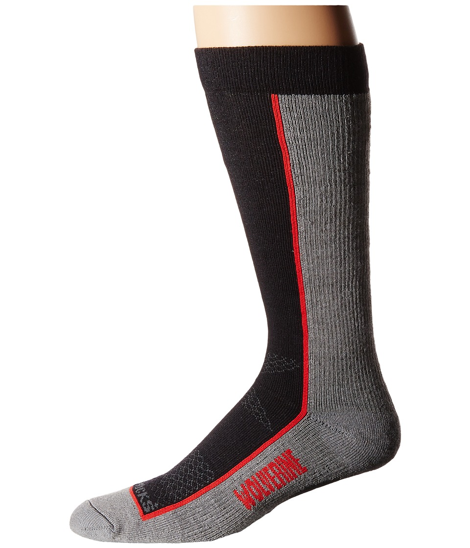 Wolverine - 1-Pack Durashocks(r) Sock (Black) Men's Crew Cut Socks Shoes