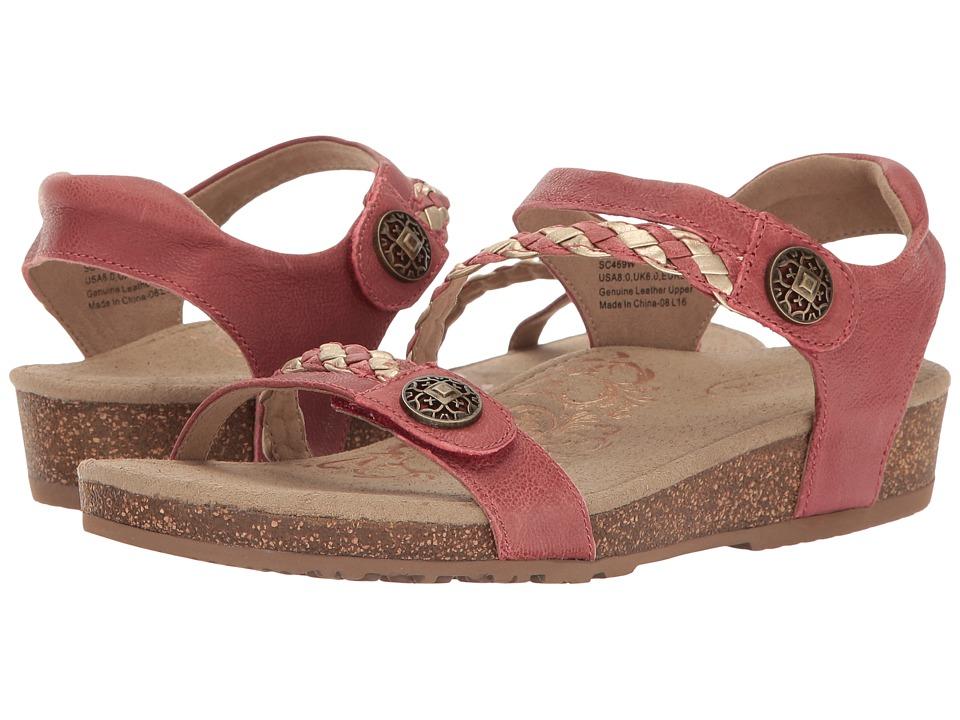 Aetrex - Jillian Quarter Strap (Raspberry) Women's Sandals